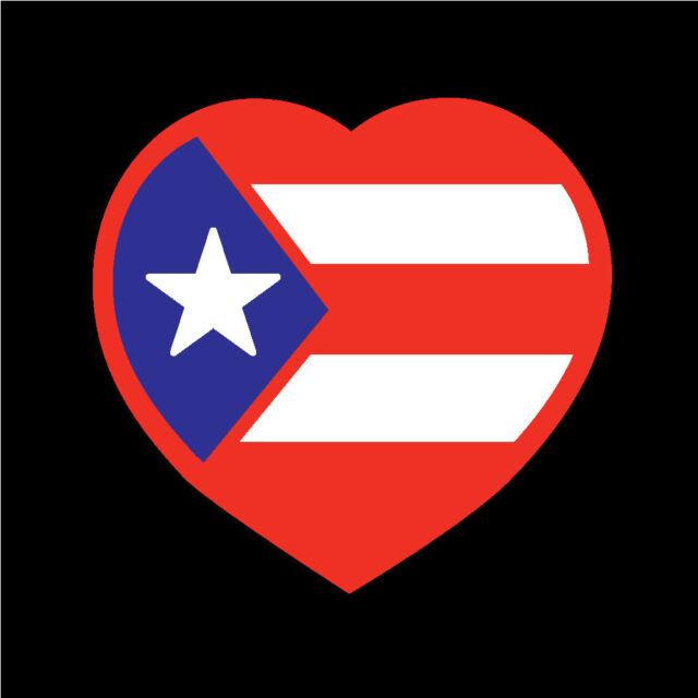 BANDERA 4 STICKERS 1 PRICE ****FREE SHIPPING**** PUERTO RICO FLAG STICKER