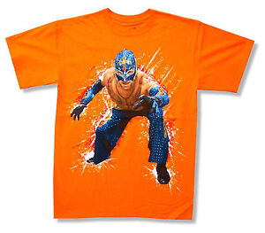 WWE-WRESTLING-034-REY-MYSTERIO-034-Photo-orange-T-Shirt-Nouveau-Officiel-Jeunes-Enfants-Adultes