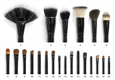 Coastal Scents 22 Brush Set Professional Dome Cosmetic Synthetic Buffer Blush
