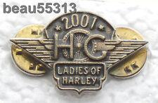 LADIES OF HARLEY DAVIDSON OWNERS GROUP HOG LOH 2001 VEST JACKET PIN 01