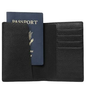 Jack-Spade-Grain-Leather-Passport-Holder-Travel-Wallet-Black-NWT-148