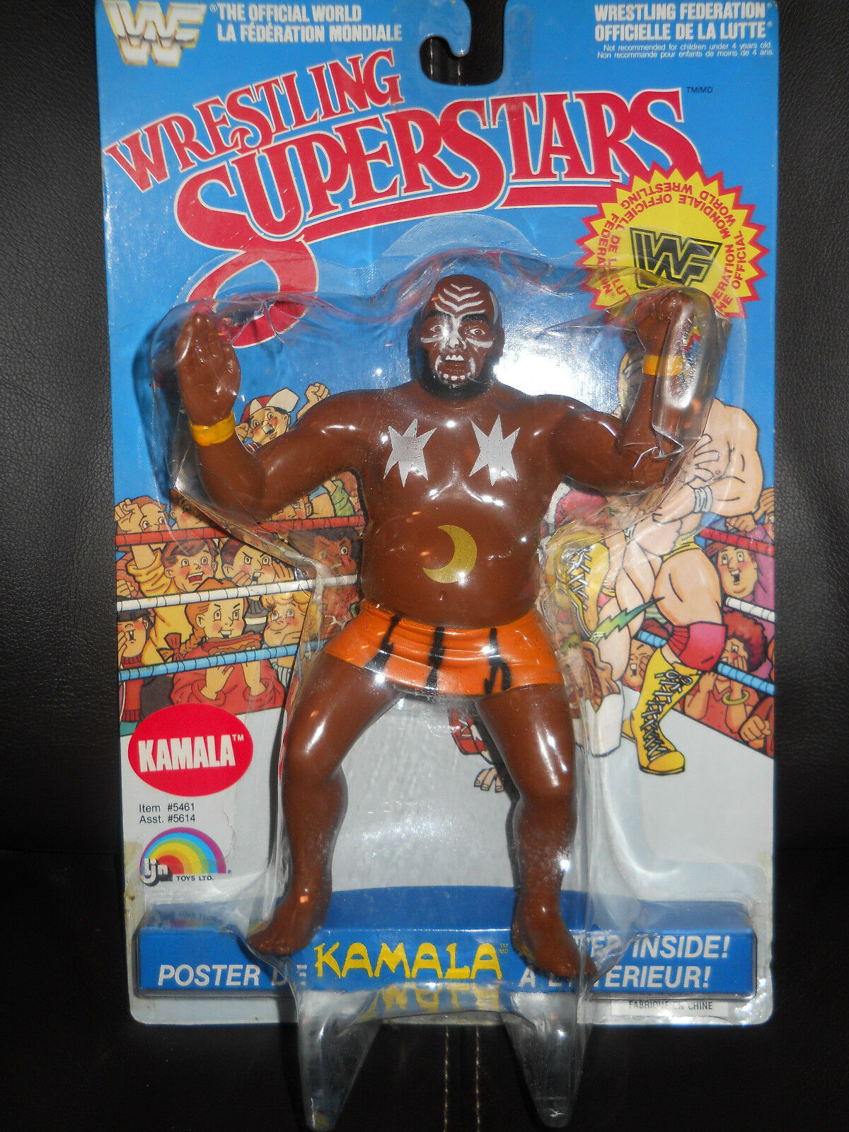 LJN WWF wwe awa Wrestling Superstars KAMALA True moc.seald.85