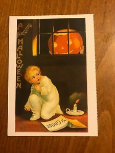 Retro-Halloween-Themed-Postcard-46-NEW-Pagan-Wicca-Gothic