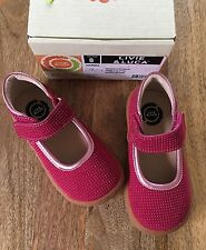 NIB LIVIE AND LUCA GEMMA Mary Janes Shoes For Girls, Size 8 Magenta Sparkle