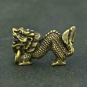 Chinese-Brass-Dragon-Pendant-Small-Statue-Old-China-Zodiac-Collectible-Antique
