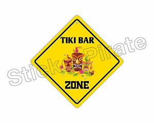 Image Is Loading Aluminum Tiki Bar Zone Funny Metal Novelty Sign