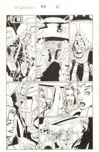 Ultimate Spider-Man #43 P.16 - X-Men IN X-Jet - 2003 Kunst Von Mark Bagley
