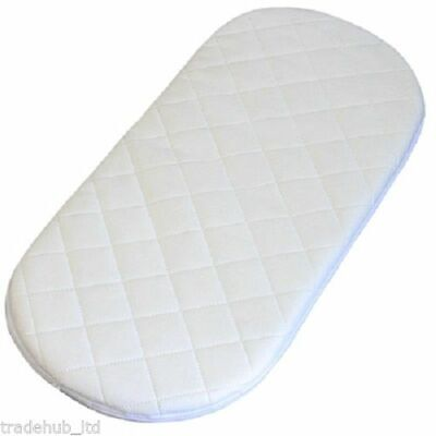 Moses Mattress Baby Toddler Basket//PRAM Oval Shaped MATTRESSES Moses Basket Foam Mattress Bassinet Baby PRAM Oval Fully Breathable Quilted Soft Size 80 X 45 X 3.5 cm