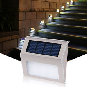 Image Is Loading Led Outdoor Garden Solar Lights Patio Step Stair