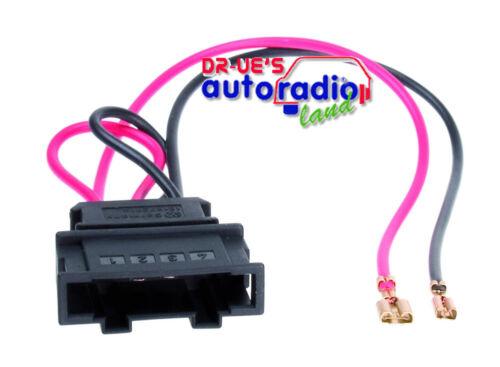 Altavoces cable adaptador adecuado para Skoda Oktavia en existente 2-caminos set