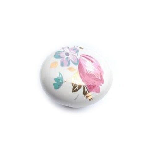 Tulip Ceramic Cabinet Knob Cupboard Closet Dresser Knob Kitchen Handle Pull