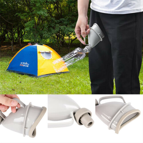 Car Handle Urine Bottle Urinal Funnel Tube Travel Outdoor Camp Urination Devsh