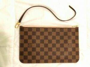 5631fa171f1c BRAND NEW UNUSED Louis Vuitton Neverfull MM Pouch Damier Ebene Rose ...