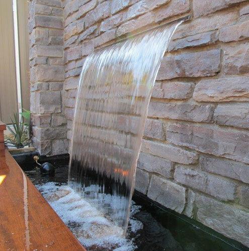 """Nakano 18/"""" Cascade évacuateur de dalot pour bassin ou fontaine-Inoxydable 316"""