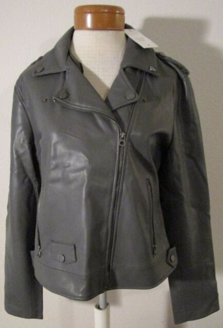 Gray Bonded Lucky Faux Leather Motorcycle 9526 Womens Brand Jacket Y1YqHwt