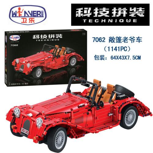 Baustein 7062 Auto Klassischer Rennwagen Kinder Spielzeug Figur 1141PCS Modell