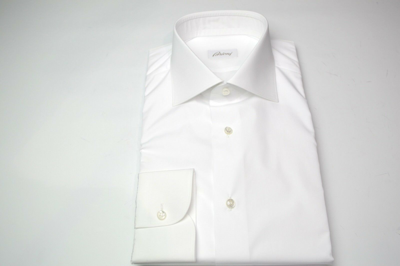 NEW BRIONI Weiß Dress hemd 100% baumwolle Größe 15.5 Us 39 Eu  (MA57)