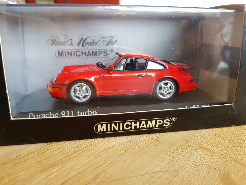 vieni a scegliere il tuo stile sportivo Minichamps 911 Turbo 1990 ( 964 ) Indisch rosso 430069104 430069104 430069104  -modello Mint-scatola very go  prezzo più economico