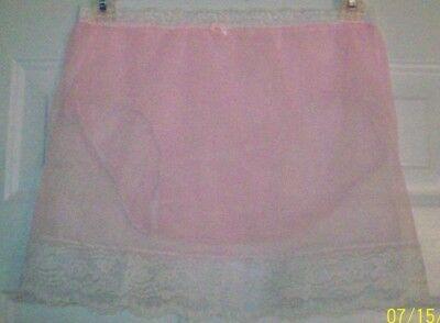 "Pink Sheer Nylon Slip & Panty Combo Intimates & Sleep Women's Clothing Men & Women 28-42 Waist Slip Length 15"" Jade White"