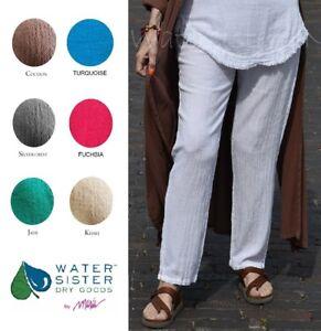 WATERSISTER Cotton Gauze SLIM Narrow Leg Pant 1(S/M) 2(L/XL) 3(1X+) DISC COLORS