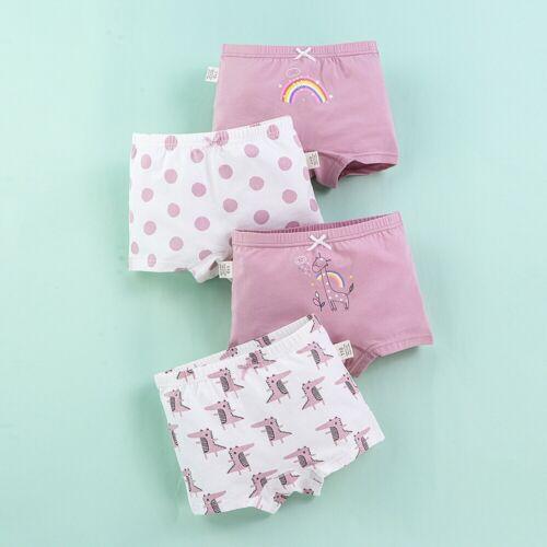 4-Pack Little Big Girls/' Panties Boyshorts Briefs Cotton Toddler Kids Underwear