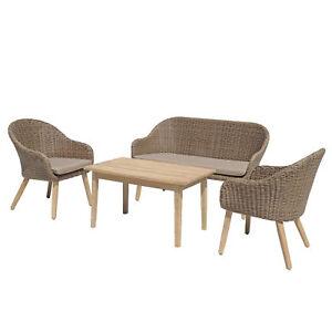 Details Zu Gartenmobel Set Pueblo 4 Teilig Lounge Polyrattan Gartenset Sitzgruppe Garnitur