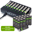 miniature 23 - Rechargeable Haute capacité AAA/AA Batteries Et 8-Way dock de chargement-Venom