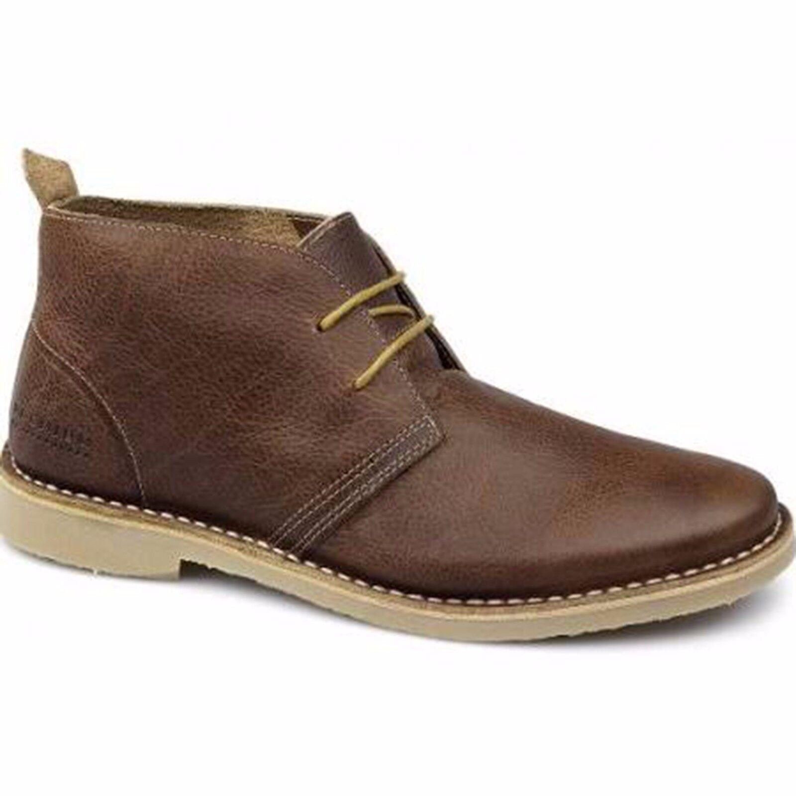Jack and Jones Gobi Gobi Jones Warm Lining Leather Brown Desert Boots 6da8ab