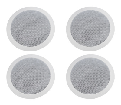 TIC Audio Indoor Waterproof 8Ohm Pack of 2 C8O8-8 Two-Way Ceiling // Wall Speakers White