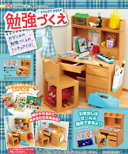 Re-Ment Miniature Student Study Desk Chair Full set