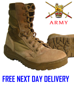 bdb7a6101d3 Details about BRITISH ARMY DESERT TAN MAGNUM ASSAULT Patrol Combat Amazon 5  Boots suede issue