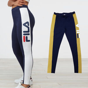 254b1ef0b514ea Image is loading NEW-FILA-WOMEN-phoebe-legging-LW173E77-WHITE-OR-