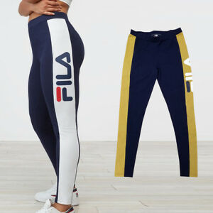 Details about NEW FILA WOMEN phoebe legging LW173E77 WHITE OR mustard