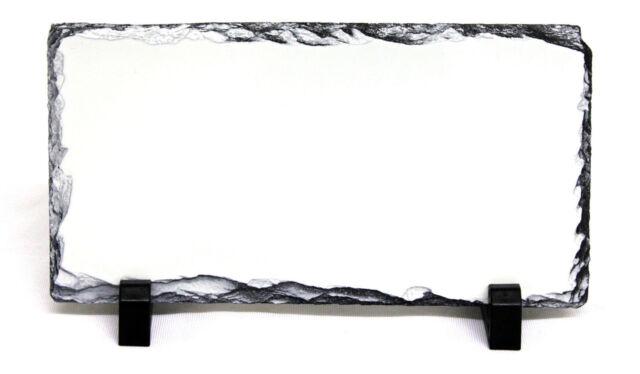 12X22CM RECTANGLE SUBLIMATION ROCK SLATE PRINTABLE WHITE PHOTO HEAT PRESS SH15