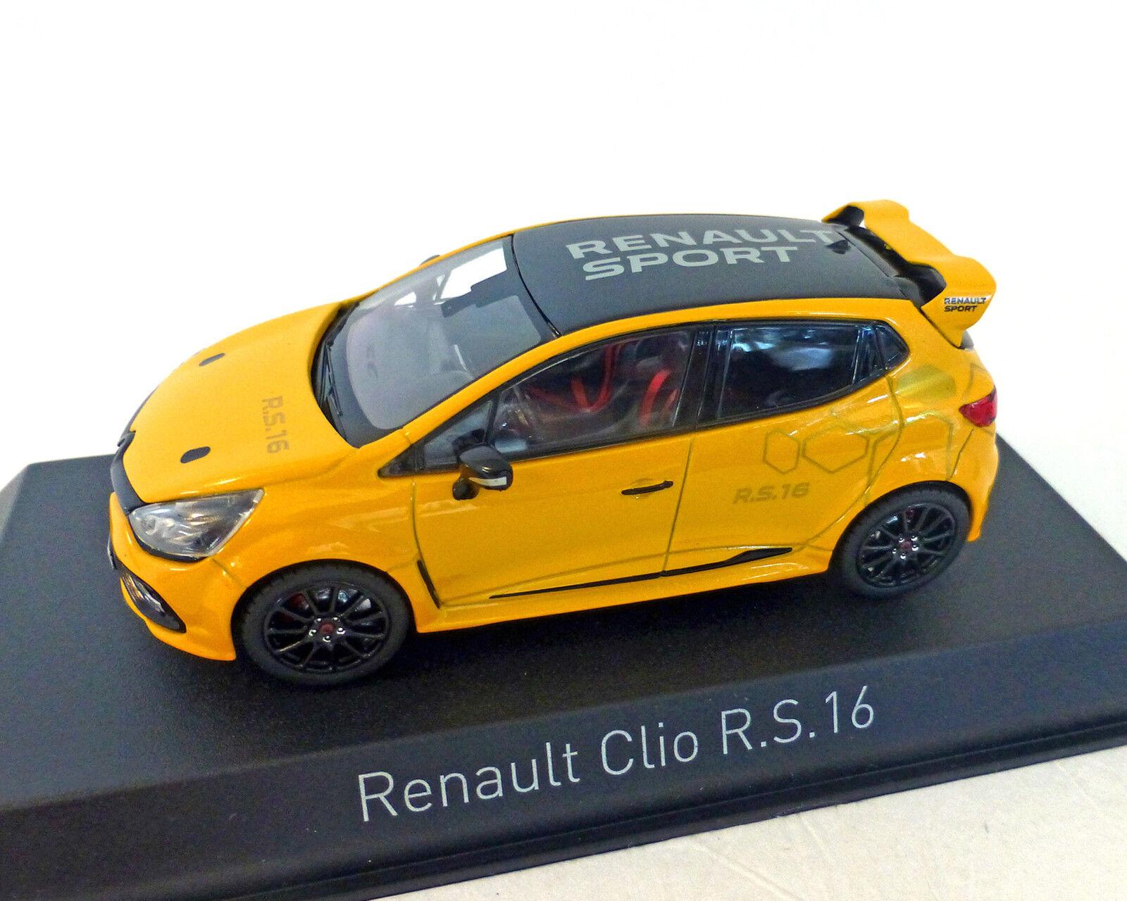 RENAULT CLIO RS 16, giallo, Norev 1 43 43 43 e589d3