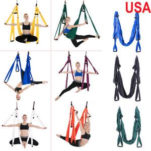 image is loading large aerial yoga swing sling hammock hanging inversion  large aerial yoga swing sling hammock hanging inversion trapeze w      rh   ebay