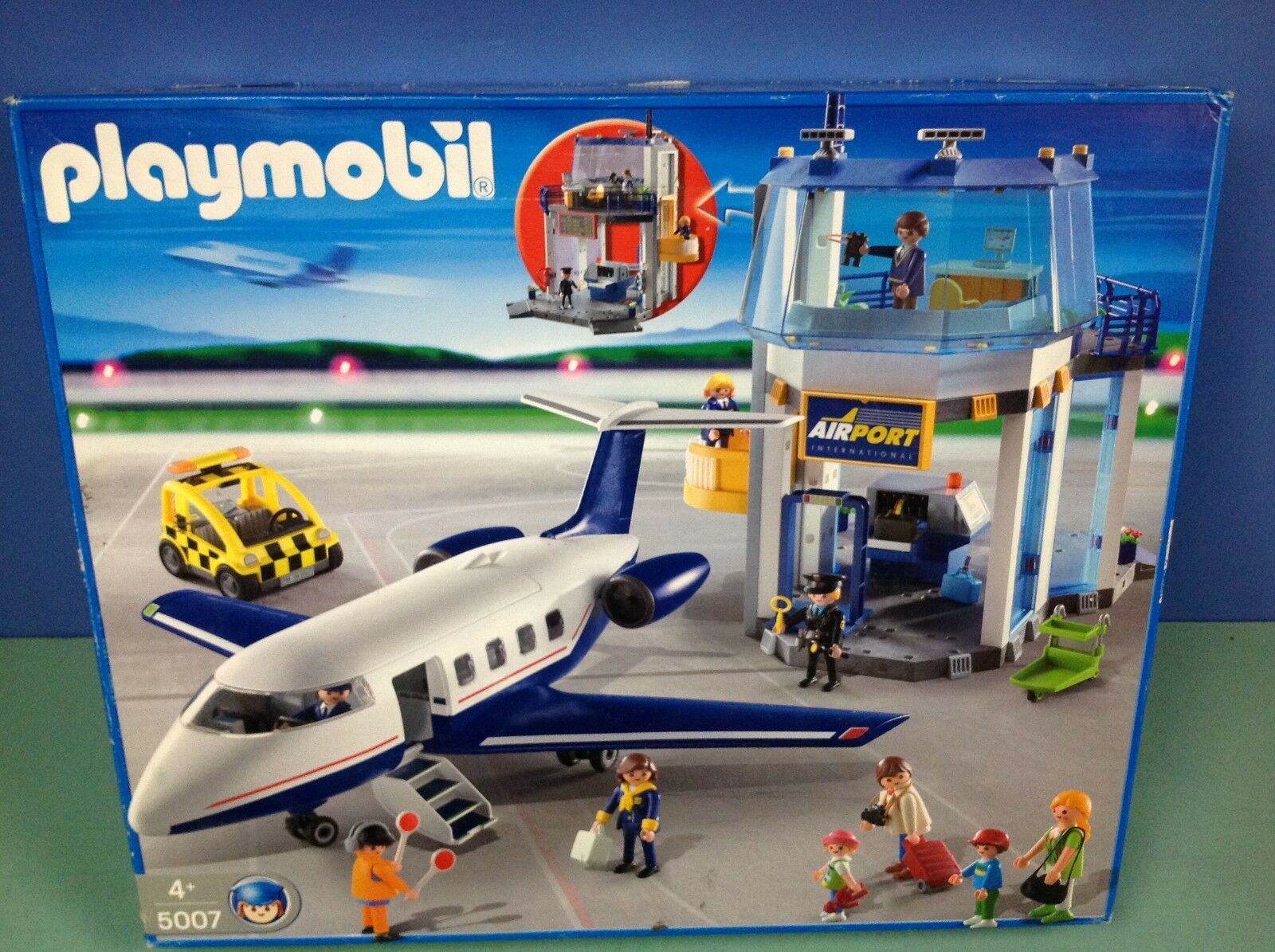 (P5007) playmobil Gros set exclusif aéroport + avion boite cplt  ref 5007