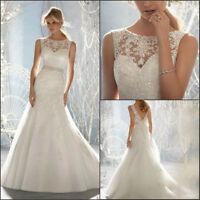 New Stock White/ivory Wedding dress Bridal Gown custom size 6-8-10-12-14-16