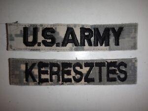 2 Us Armée Acu Poche Correctifs - AMÉRICAIN Armée+Keresztes Nom QnxVFGnR-09110434-473473564