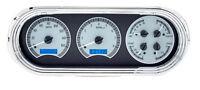 Dakota Digital 63 64 65 Chevy Nova Analog Dash Gauges Silver Blue Vhx-63c-nov