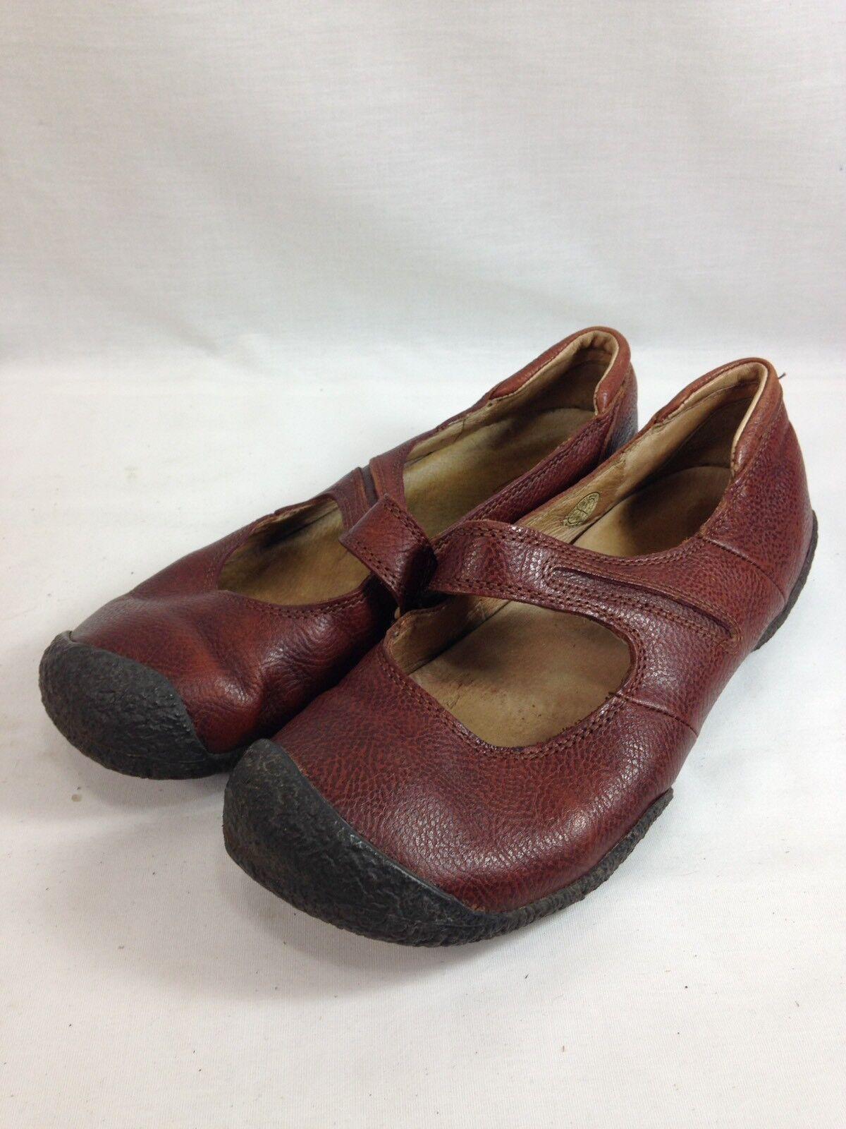 Zapatos Keen Mary Jane Jane Jane para Mujer 9.5 marrón cuero confort antideslizante en pisos Informal Vestido c140df