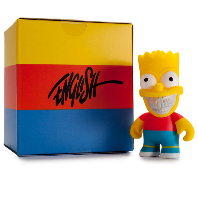 "Il Simpsons Grin - Bart 3"" Figura Personaggio 8cm - Ron English x Kidrobot"