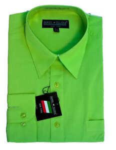 New daniel ellissa mens fashion dress shirt apple green for Daniel ellissa men s dress shirts