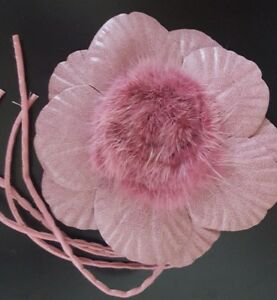 Millinery-Pink-Roses-Center-Mink-Fur-For-Hats-Accessories-New