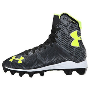 7963ae170af New Boys Under Armour Jr Highlight RM Lacrosse Football Cleats Black ...
