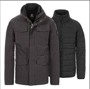 Details about Timberland Men's Snowdon Peak 3 in 1 M65 Waterproof Jacket A1MXV size:S