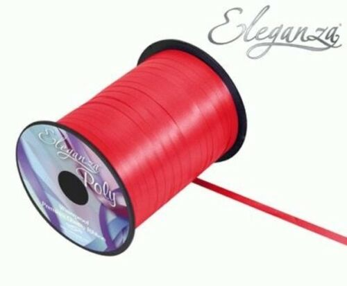 red 25900 FREEPOST Red Curling Balloon Ribbon Sold by the metre 5mm wide