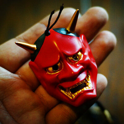 Red 般若  はんにゃ Evil Oni Noh Hannya Mask Necklace Theme Resin pendant Masks Cosplay