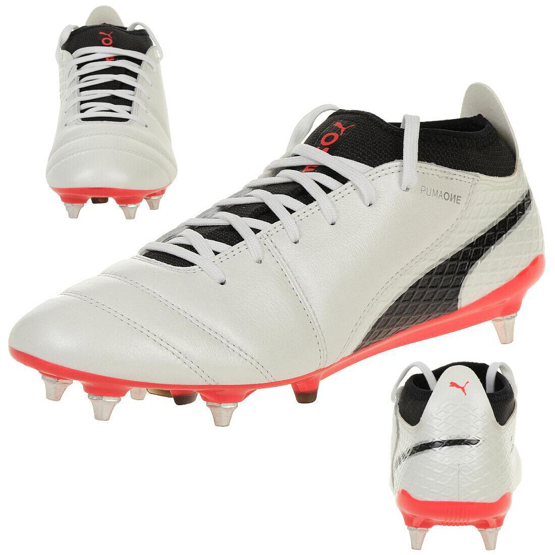 Puma One 17.2 Mx Sg Hombre Zapato de Fútbol Cuero blancooo 104231 01