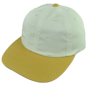 9c601fcc American Needle White Yellow Flat Bill Sun Buckle Relaxed Slouch Hat ...